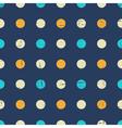 Vintage Polka Dot Pattern vector image