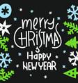 winter season greeting card vector image vector image