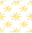 yellow marker sun seamless pattern vector image