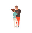 young man and woman looking at each other and vector image vector image