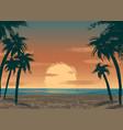 ocean sunset vector image