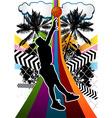 basketball summer background vector image