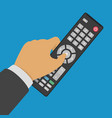 tv control in hand vector image