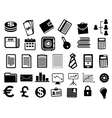 Business icons and symbols in flat style vector image
