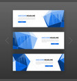3d low poly solid abstract corporate banner vector image vector image