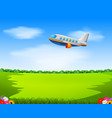 a commercial plane flying vector image vector image