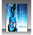 abstract blue poster vector image