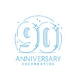 anniversary 90 3d number twenty with sparkles vector image