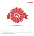 bell icon - red ribbon banner vector image vector image