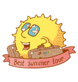 best summer tour vector image vector image