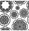 black floral mandala seamless pattern pr vector image vector image