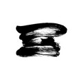 black paint ink brush stroke or shape vector image