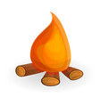camp fire icon cartoon style vector image
