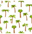 cartoon color palma tree seamless pattern vector image vector image