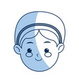 cartoon face woman manger catholic image vector image vector image