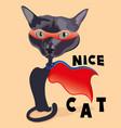 cat super hero in mask vector image
