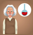 character scientist physical thinking test tube vector image vector image