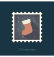 Christmas socks flat stamp vector image vector image