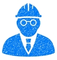 Clever Engineer Grainy Texture Icon vector image vector image