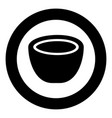 coconut icon black color in circle round vector image vector image