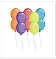 Color glossy balloons vector image