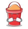 crying bucket character cartoon style vector image vector image