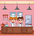 cute chef boy vector image vector image