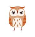 cute owlet adorable owl bird vector image vector image