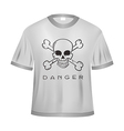 Danger t shirt vector image