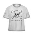 Danger t shirt vector image vector image