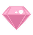 diamond isolated icon crystal or cut mineral vector image vector image