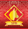 dog new year chinese celebration vector image