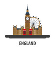 england travel location vacation or trip and vector image vector image