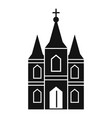 europe church icon simple style vector image vector image