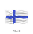 flag finland vector image vector image