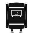 gas boiler icon simple style vector image