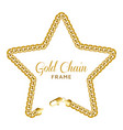 gold chain star border frame wreath starry shape vector image vector image