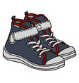 gray and white childrens sneakers vector image vector image