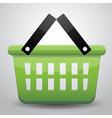 Green basket shopping vector image vector image