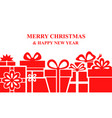 greeting christmas banner with gifts vector image vector image
