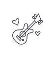 guitar music line icon concept guitar music vector image vector image