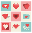 heart icons set one vector image vector image