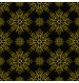 Inca tile gold vector image vector image