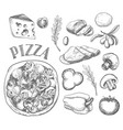 ingredients for pizza vector image vector image