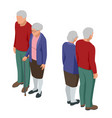 isometric senior couple seniors isolated on white vector image