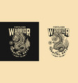 japanese fight club vintage label vector image