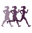 jogging weight loss woman vector image vector image