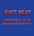 just neat alphabet gradient font with golden vector image vector image