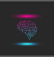levitating human brain abstract with blue-pink vector image