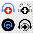 medical assistance headphones eps icon with vector image